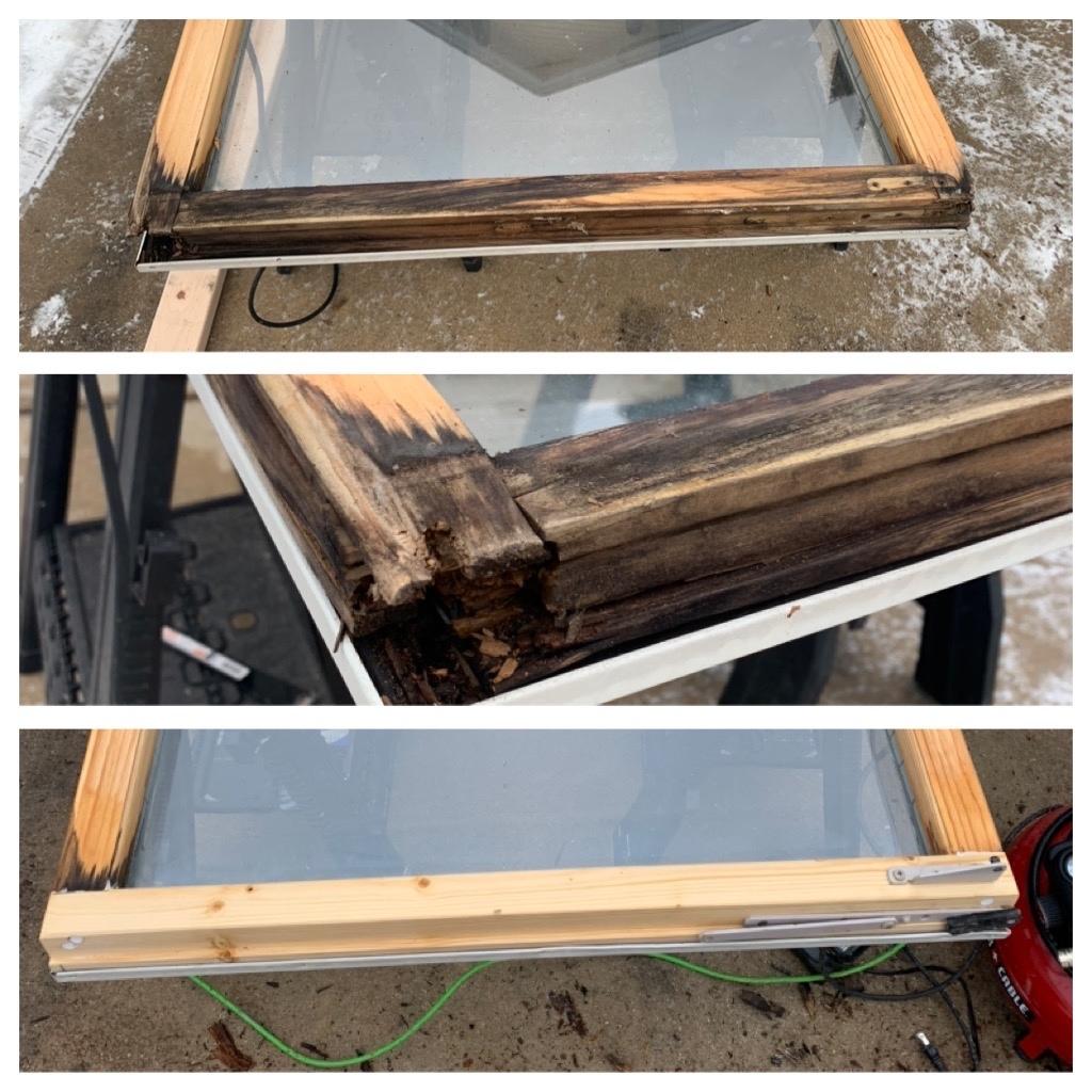 Restoration of wooden windows