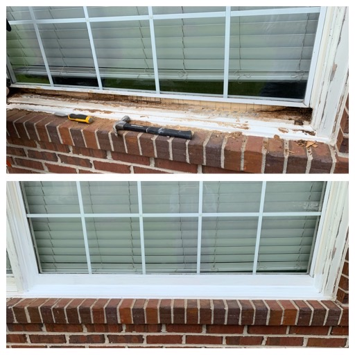 Rotten window frame repair